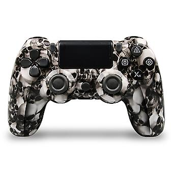 Customized DoubleShock Bluetooth Wireless PS4 Controller, Skull