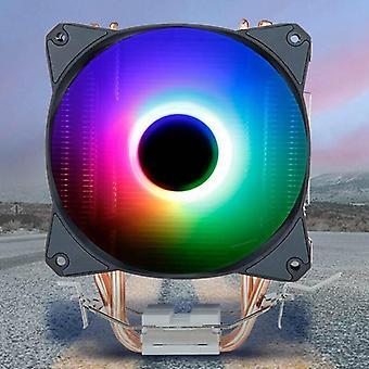 RGB LED Radiator Fan CPU Cooler Heatsink Core For Intel Socket LGA 115X/775/AMD