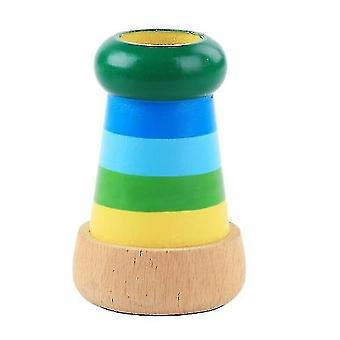 Színes csíkos multi prizma Kaleidoszkópos toy,fa szimulációs távcső oktatási kellékek(GROUP3)