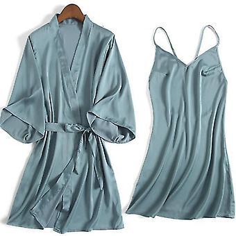 Robes rayon kimono bathrobe casual nightwear sleepwear sm163692