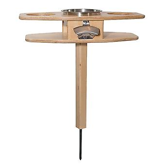 Outdoor Portable Wine Table Solid Wood Wine Glass Holder Detachable Table Wine Table With Foldable