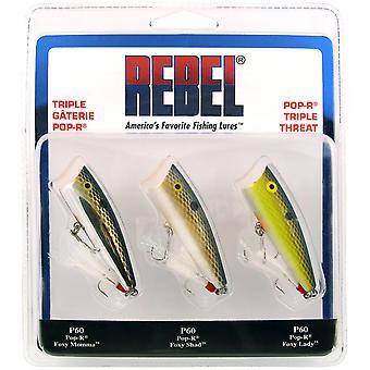 Rebel Pop-R trippel hot 1/4 oz fiskedrag