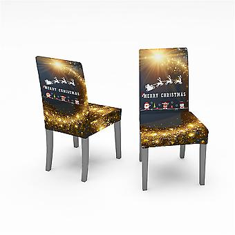 2 Pcs Christmas Chair Cover Dining Chair Slipcover,high Stretch Removable Washable Chair Seat Protector Cover For Christmas Decoration-christmas Theme
