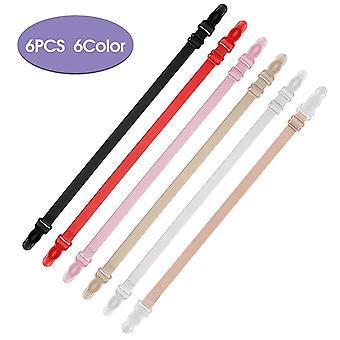 קליפים רצועת חזייה ללא החלקה מחזיק רצועות חזייה לנשים (6 מארז, 6 צבעים)