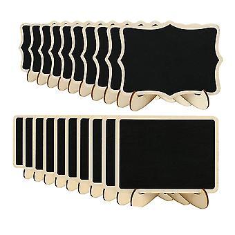 Mini zobrazovacia doska, tabuľa kriedy, dekorácia domácej pracovnej plochy (20 kusov)
