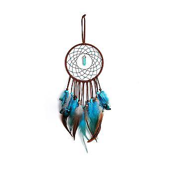Decoración interior de la habitación Corazón femenino Lindo pluma Atrapasuento Campana de viento Regalo de cumpleaños
