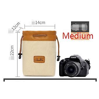 ソニーレンズバッグマイクロシングルデジタルレンズバッグのためのニコンのためのキヤノンのためのデジタル一眼レフカメラバッグ防水ライナーカメラ収納バッグ