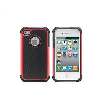 Shock Proof Case Cover pour Apple iPhone 5 5 s SE + stylet tactile - rouge
