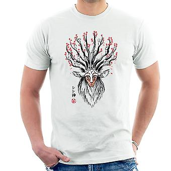 Princess Mononoke de herten God Sumi-E mannen T-Shirt