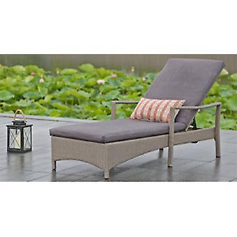 Maison moderne tissé Wailea rotin chaise longue - gris