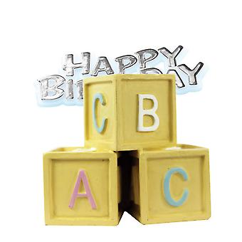 Creative Party Baby Blocks & Motto Cake Topper