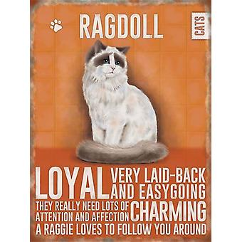 Medium Wall Plaque 200mm x 150mm - Ragdoll Cat by The Original Metal Sign Co
