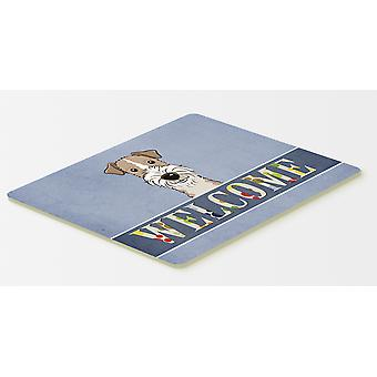 Wire Haired Fox Terrier Welcome Kitchen or Bath Mat 20x30