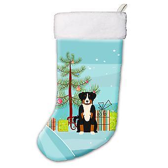 Merry Christmas Tree Appenzeller Sennenhund Christmas Stocking