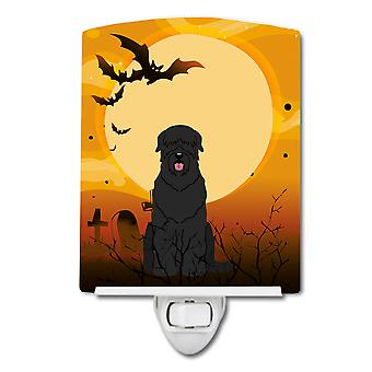 Halloween Black Russian Terrier Ceramic Night Light