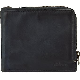 Ashwood Spitalfields Vintage Zip kierroksen miesten nahka lompakko