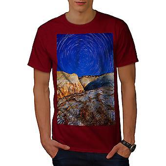 Spiral Star Wild Nature Men RedT-shirt | Wellcoda