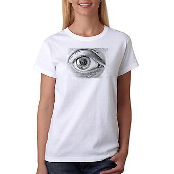 M.C. Escher Eye Women's White T-shirt