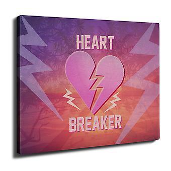 Heart Breaker View Wall Art Canvas 40cm x 30cm | Wellcoda