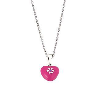 Skautské děti náhrdelník s náhrdelníkem stříbrné srdce růžové dívky dívky 261081200