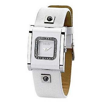 Misaki Mens watch bracelet de cuir blanc QCRWACQUAW montre