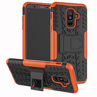 Voor Samsung Galaxy A6 A600 2018 hybrid case 2 stuk SWL buiten oranje zak gevaldekking van bescherming