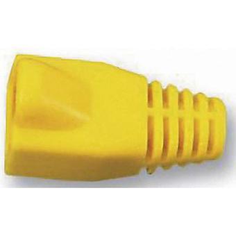 Manga de alivio de tensión RJ45 PC MHRJ45SRB Y conectores amarillos de MH 6510-0100-04 1