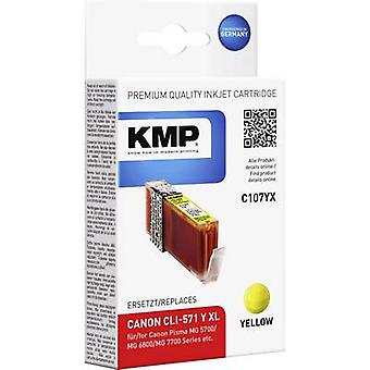 KMP Ink replaced Canon CLI-571Y XL Compatible Yellow C107YX 1569,0009