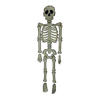 Esqueleto de miedo grande madera blanco colgantes decoración de Halloween