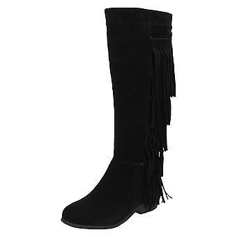 Ladies Spot On Knee High Boots F50492