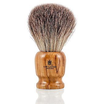 Vie lange 16745 svart Badger barbering pensel