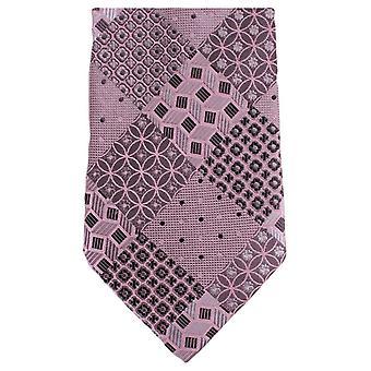 Knightsbridge Neckwear Multi motif Floral cravate - rose