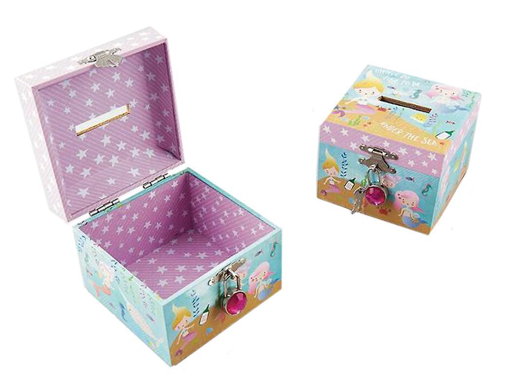 Mermaids sparkly money box