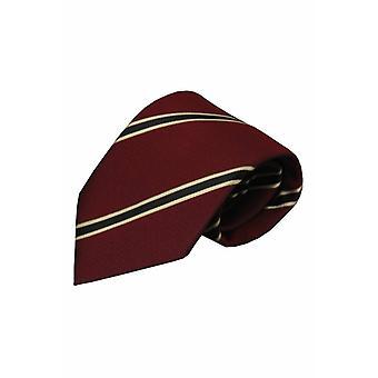 Rode zijden stropdas Serra 01