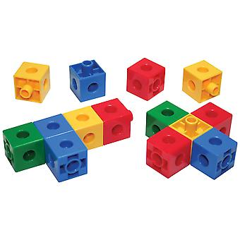 Bigjigs Toys Educational Linking Cubes (600 Pieces) Sorting Shapes Construction