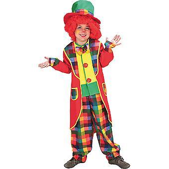Circo di pagliaccio vestito bambino costume ragazzo/ragazza carnevale