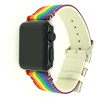 Nylon Armband für Apple Watch 3/2/1 42mm-Pride