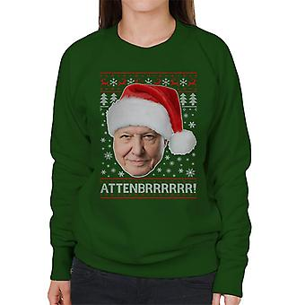 Attenbrrrrrr David Attenborough Weihnachten stricken Damen Sweatshirt