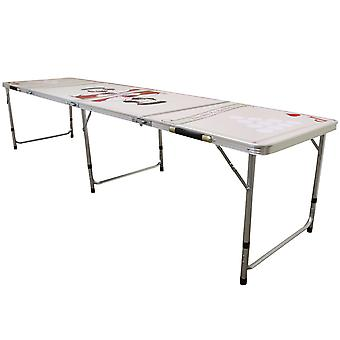 Beer Pong Table Folding Party Drinking Games Portable Prosecco Pong 8FT