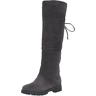 Yhdeksän Länsi naisten Mavira Mokka polvenkorkuinen Boot