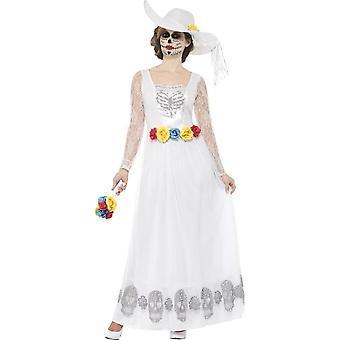 Día del traje de novia esqueleto muerto, grande