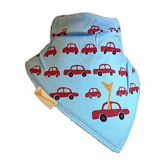 Blå & röda bilar bandana bib