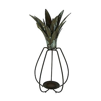 Rustic Metal Tropical Pineapple Candle Lantern