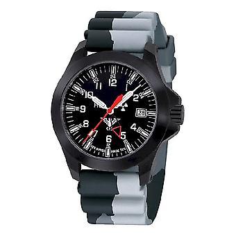KHS zegarki męskie zegarek czarny plutonu GMT LDR KHS. BPGLDR. DC1
