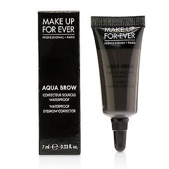 Make Up For Ever Aqua Brow Waterproof Eyebrow Corrector - # 40 (brown Black) - 7ml/0.23oz