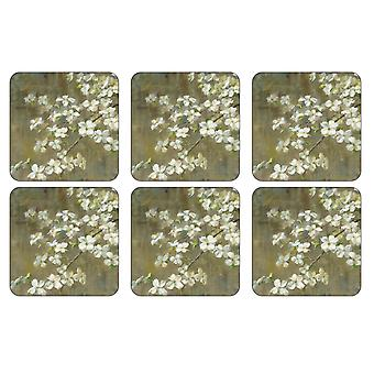 Pimpernel Dogwood in Spring Coasters, Set of 6