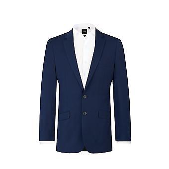 Dobell Mens donker blauw 2-delig kostuum Slim Fit Notch revers