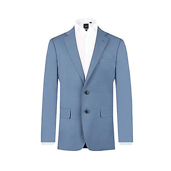 Dobell miesten vaalea sininen puku takki regular fit lovi käänne