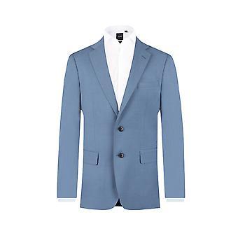 Doball Mens licht blauwe pak jasje Fit Regular Notch revers