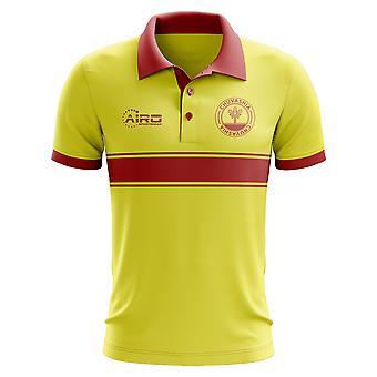 Koszulka Polo Czuwaszji koncepcja Stripe (żółty)